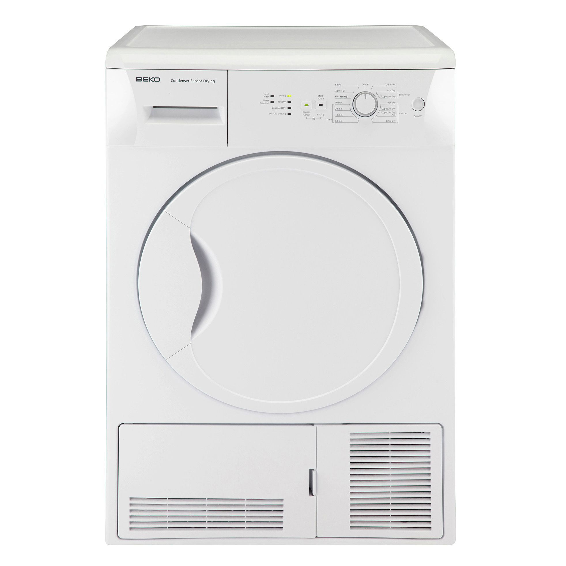 Animated Tumble Dryer ~ Beko dcu w white freestanding tumble dryer