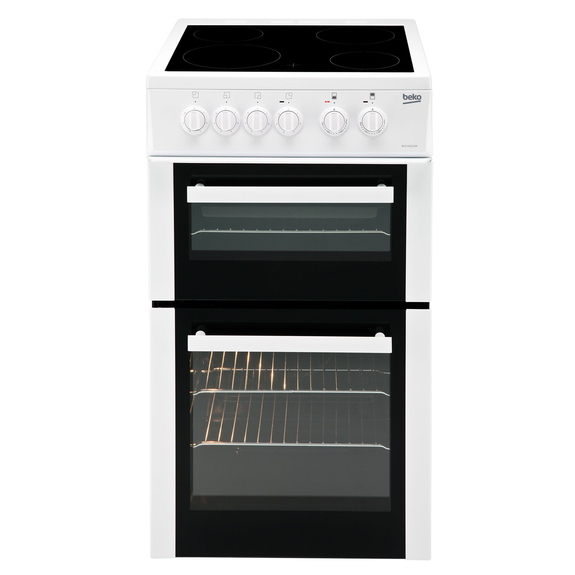 Uncategorized Beko Kitchen Appliances beko freestanding electric cooker with hob bdc5422aw departments diy at bq