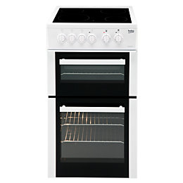 Beko Freestanding Electric Cooker with Electric Hob, BDC5422AW