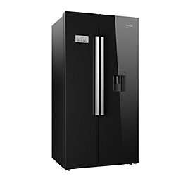 Beko ASD241B American Style Sbs Black Freestanding Fridge