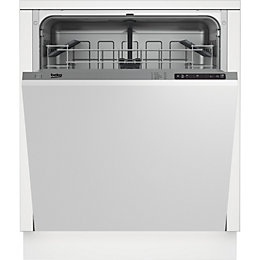 Beko DIN15210 Integrated Full Size Dishwasher, White