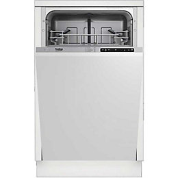 Beko DIS15010 Integrated Slimline Dishwasher, White