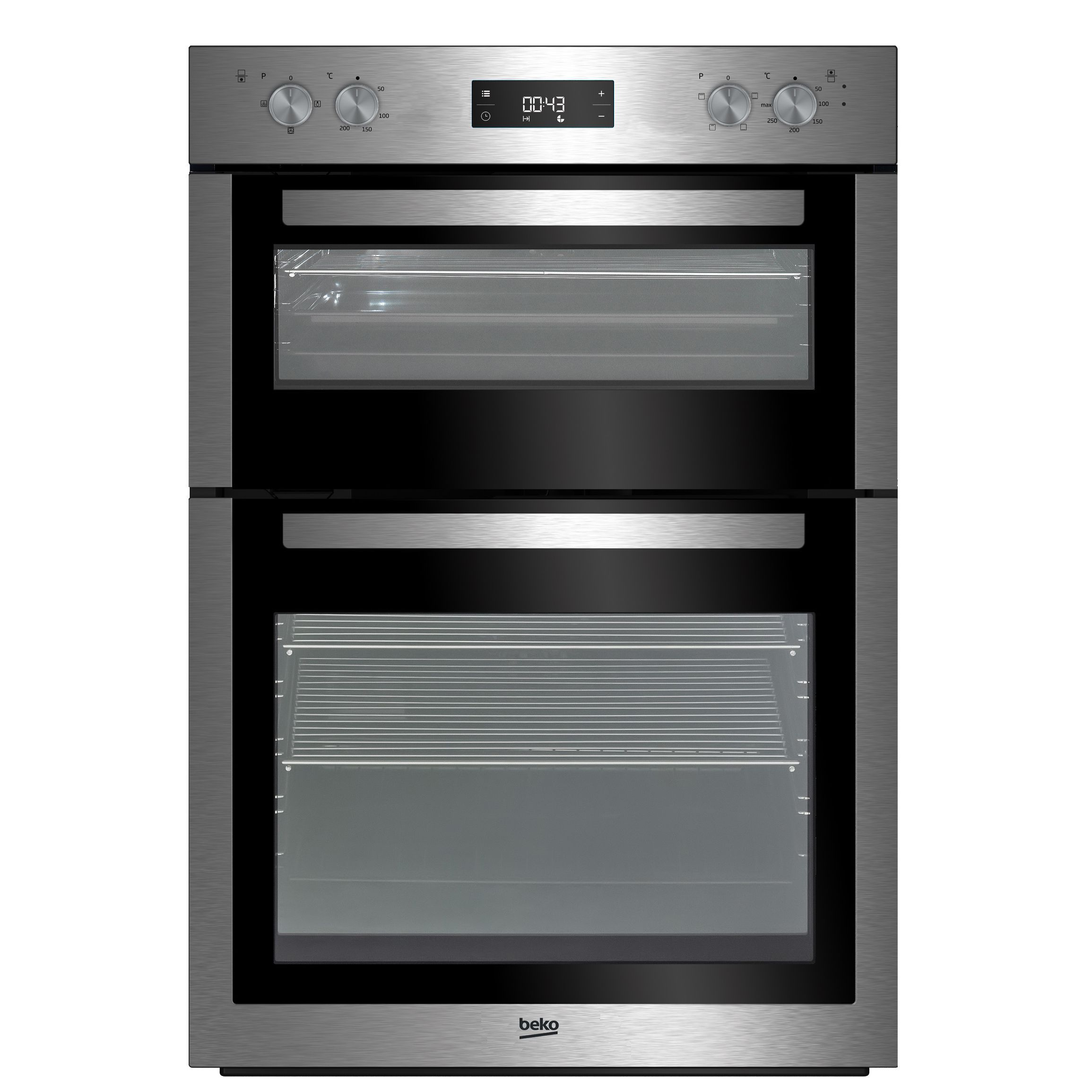 Uncategorized Beko Kitchen Appliances beko bdf26300x stainless steel electric double oven departments diy at bq