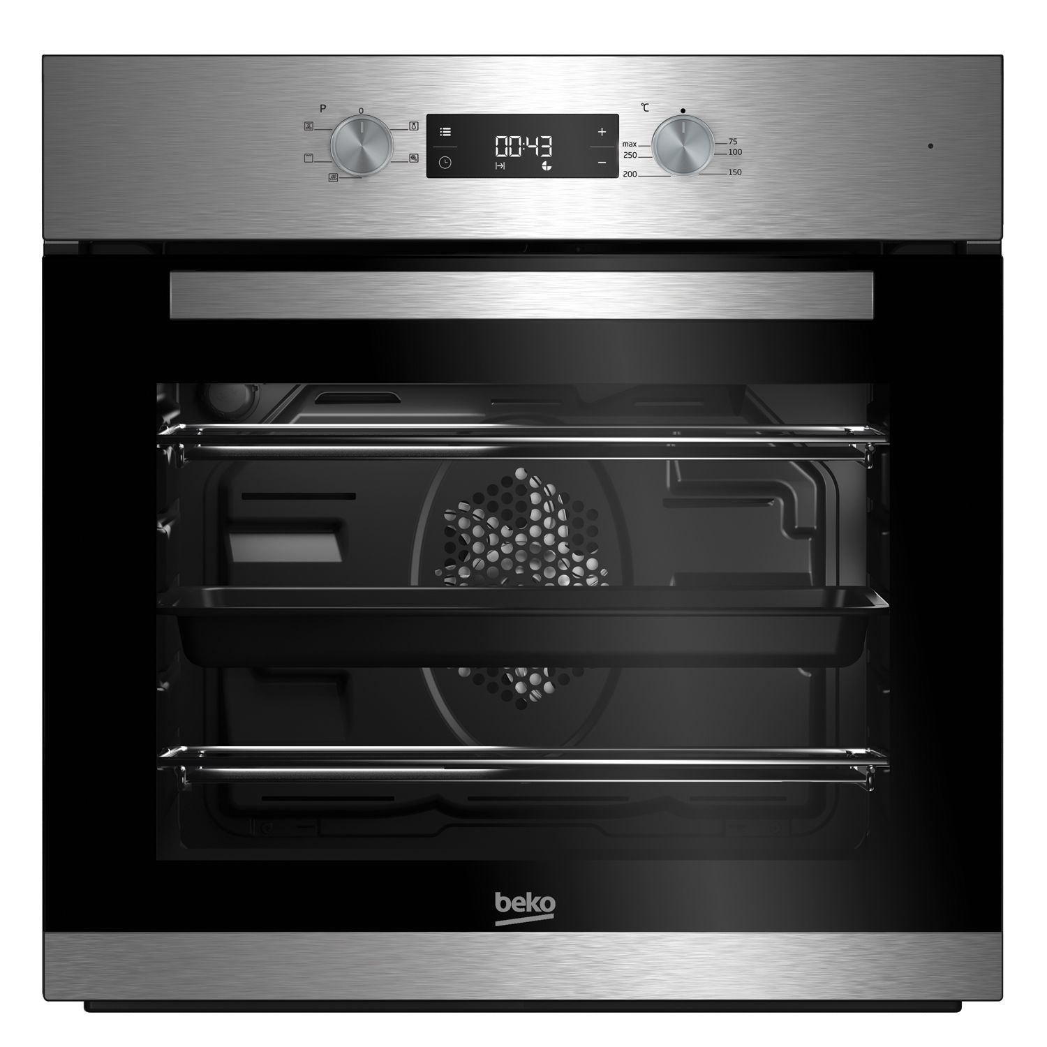 Uncategorized Beko Kitchen Appliances beko bif22300xd stainless steel electric single fan oven departments diy at bq