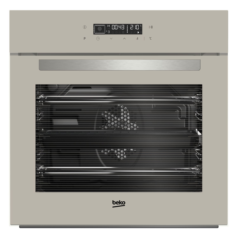 Of storage both behind the worktop amp cooker and below the sinks - Beko Bim24400gc Grey Electric Multifunction Single Oven