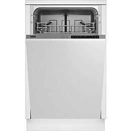 Beko DIS15011 Integrated Slimline Dishwasher, White