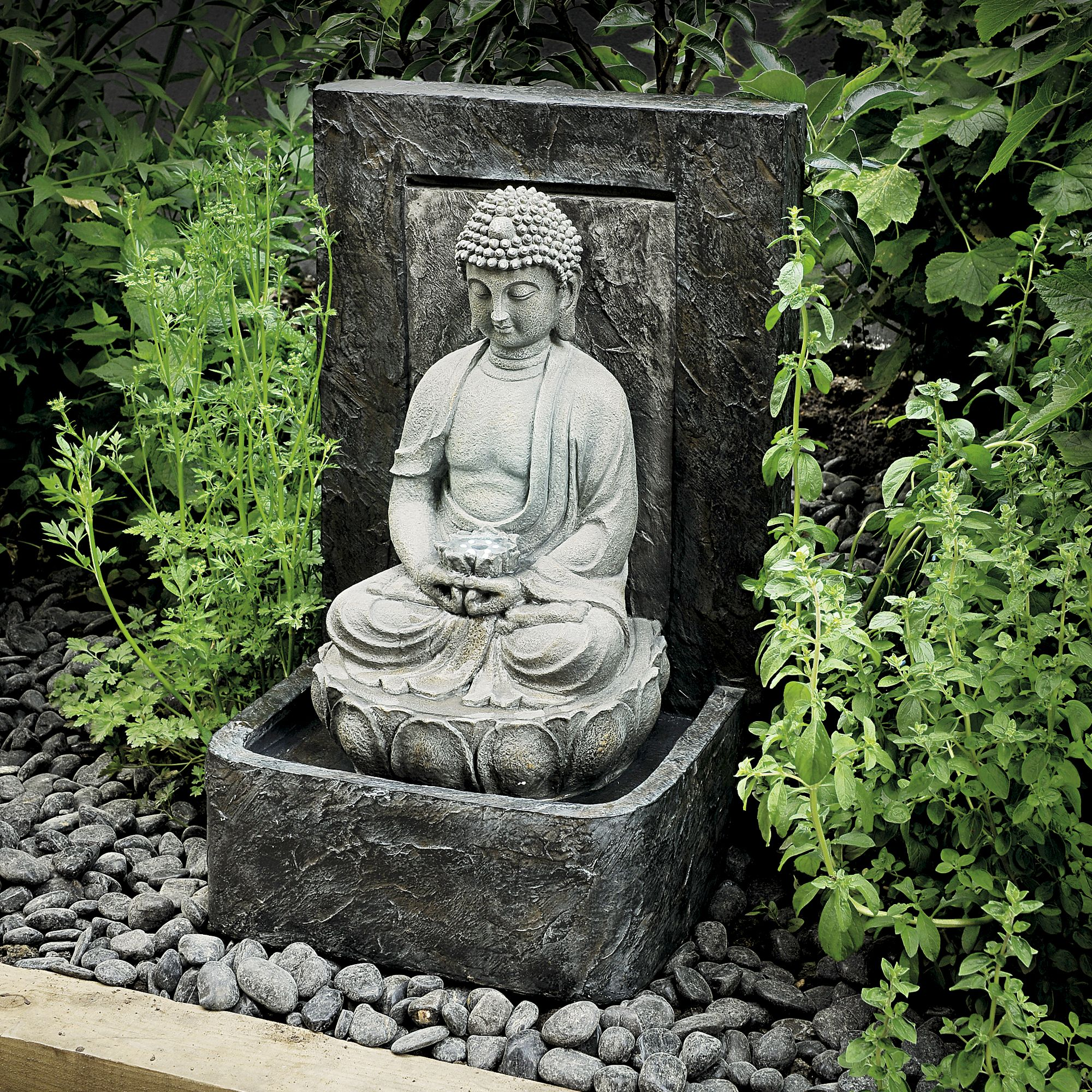 Gardman tranquil buddha water feature departments diy at b q for Decoration jardin bouddha