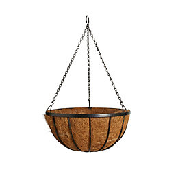Gardman Traditional Georgian Black Hanging Basket 14 ""