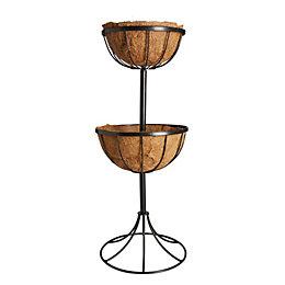 Gardman Traditional Georgian Black Fountain Basket 35 cm