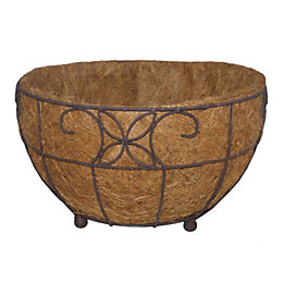 Distressed Brown Floor Planter (H)200mm (L)350mm