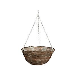 """Gardman Rattan Hanging Basket 12 """""""