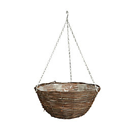 Gardman Rattan Hanging Basket 406.4 mm