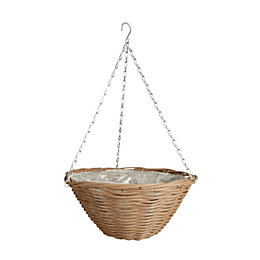 Gardman Natural Look Woven Brown Hanging Basket 14