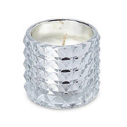 Mottled Vanilla Glass Filled Candle