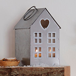 House Metal Tealight Holder
