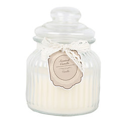 Ornate Glass Warm Vanilla Jar Candle Medium