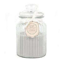 Ornate Glass Sandalwood Jar Candle Medium