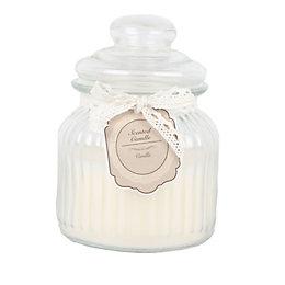 Ornate Glass Warm Vanilla Jar Candle Large