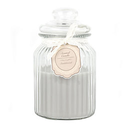 Ornate Glass Sandalwood Jar Candle Large
