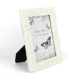Cream Butterfly Resin Picture Frame (H)20cm x (W)15cm