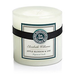 Elizabeth Williams Apple Blossom & Lily Pillar Candle