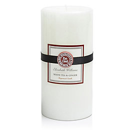 Elizabeth Williams White Tea & Ginger Pillar Candle