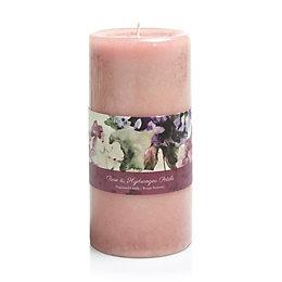 Bloom Rose & Hydrangea Petal Pillar Candle