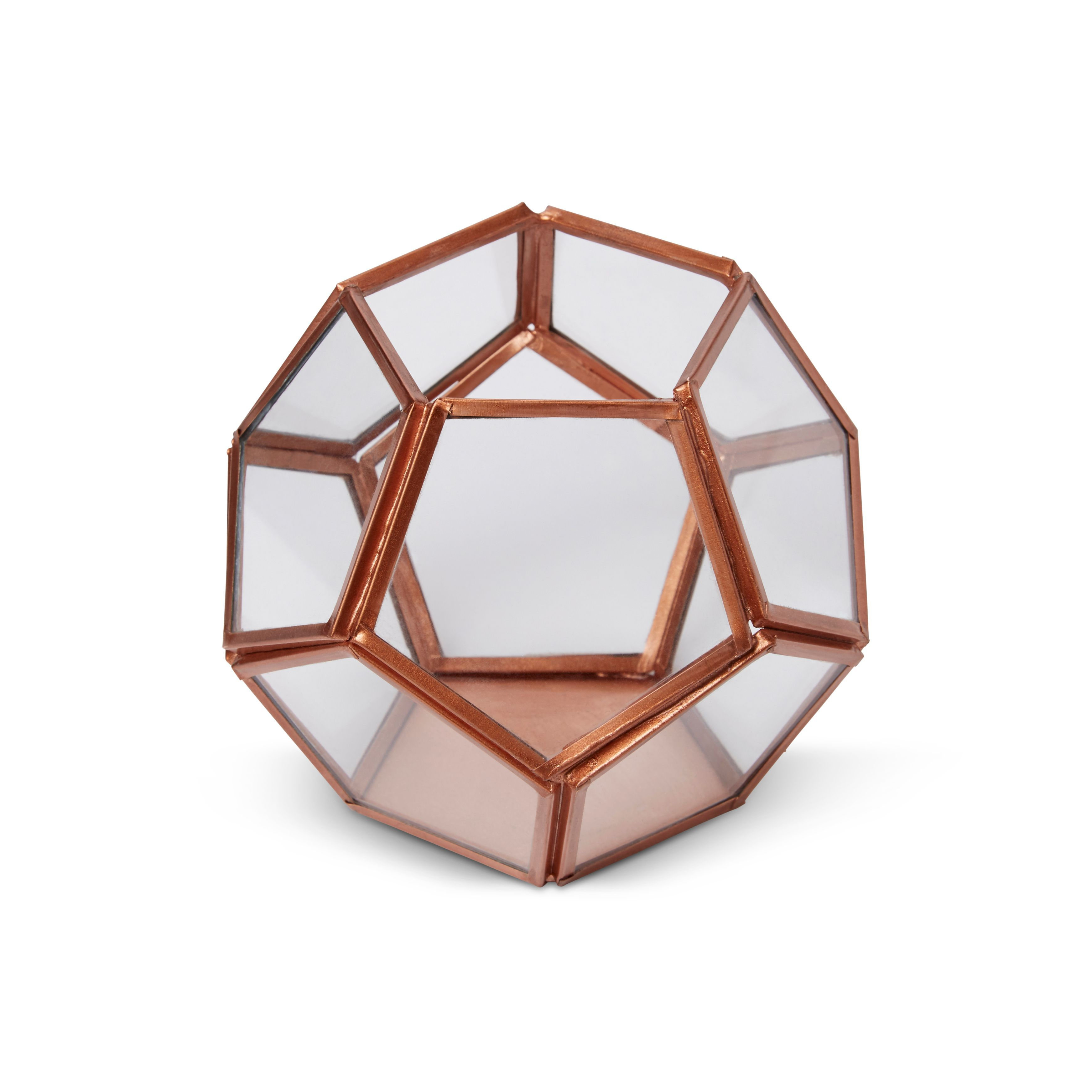 Copper Hexagon Glass Amp Iron Terrarium Departments Diy