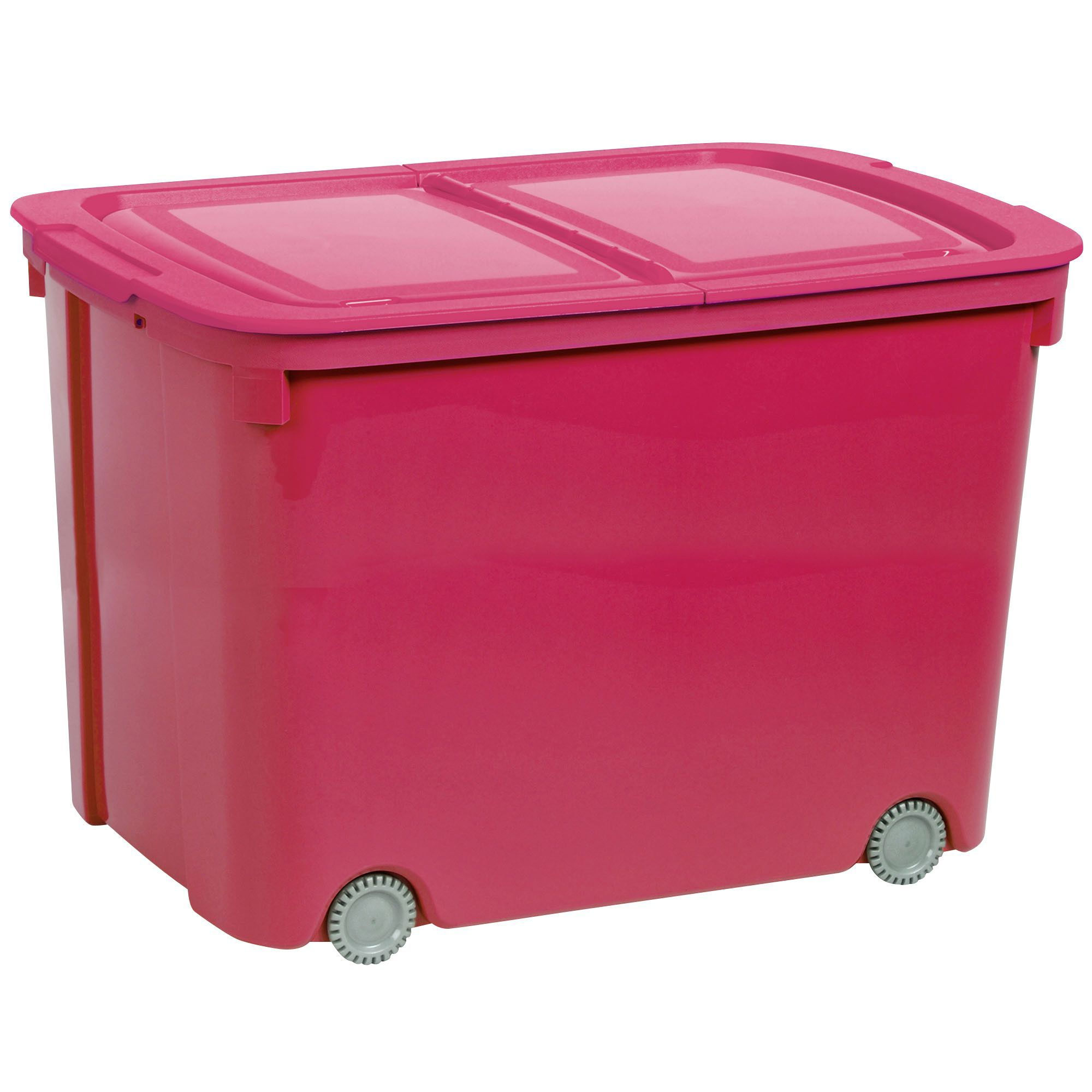 curver bee tidy pink 70l plastic storage box on wheels departments diy at b q. Black Bedroom Furniture Sets. Home Design Ideas