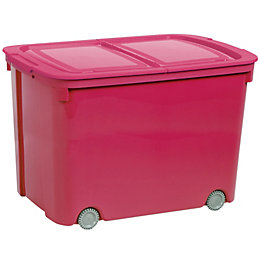 Curver Bee Tidy Pink 70L Plastic Storage Box