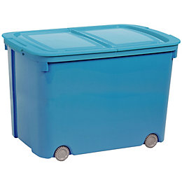 Curver Bee Tidy Blue 70L Plastic Storage Box