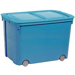 Curver Bee Tidy Blue 70L Plastic Storage Box