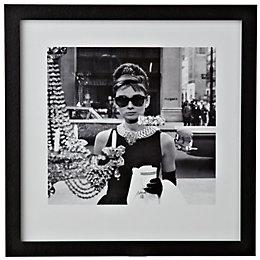 Audrey Hepburn Black & White Framed Print (W)34cm
