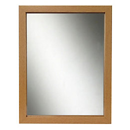 Oak Effect Framed Rectangular Framed Mirror (H)440mm (W)