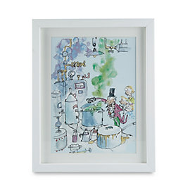 Charlie & The Chocolate Factory White Framed Picture