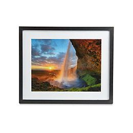 Waterfall Black Framed Print (W)54cm (H)44cm