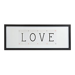 Love Playing Cards Black Framed Print (W)73cm (H)28cm