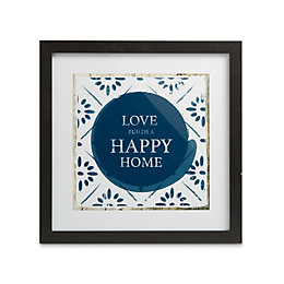 Love Home Black Framed Print (W)33.5cm (H)33.5cm