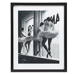 Ballerinas Black & White Framed Print (W)540mm (H)440mm