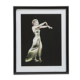 Marilyn Monroe Gold Dress Gold Wall Art (W)540mm