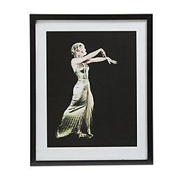 Marilyn Monroe Gold Dress Gold Wall Art (W)54cm