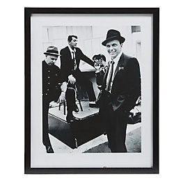Frank Sinatra Black & White Framed Print (W)540mm