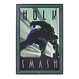 Hulk Comics Black Framed Art (W)62.5cm (H)93cm
