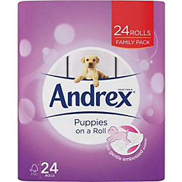 Andrex Paper Toilet Roll, Pack of 24