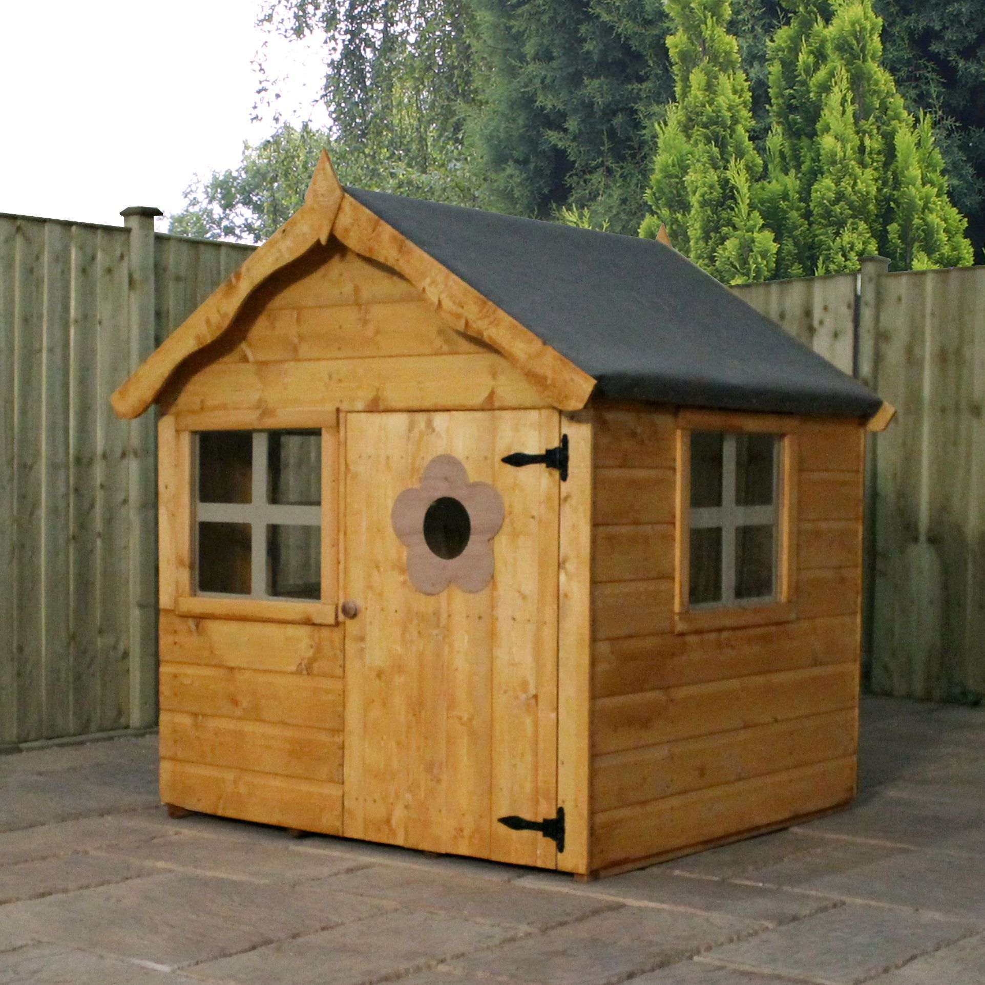 4x4 wooden playhouse departments diy at b q for Garden shed 4x4
