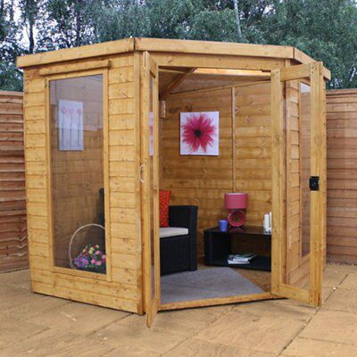 7x7 shiplap timber summerhouse departments diy at b q for Garden shed 7x7