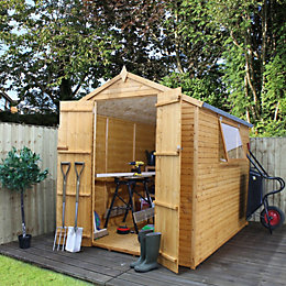 8X6 Apex Shiplap+ Wooden Shed Base Included