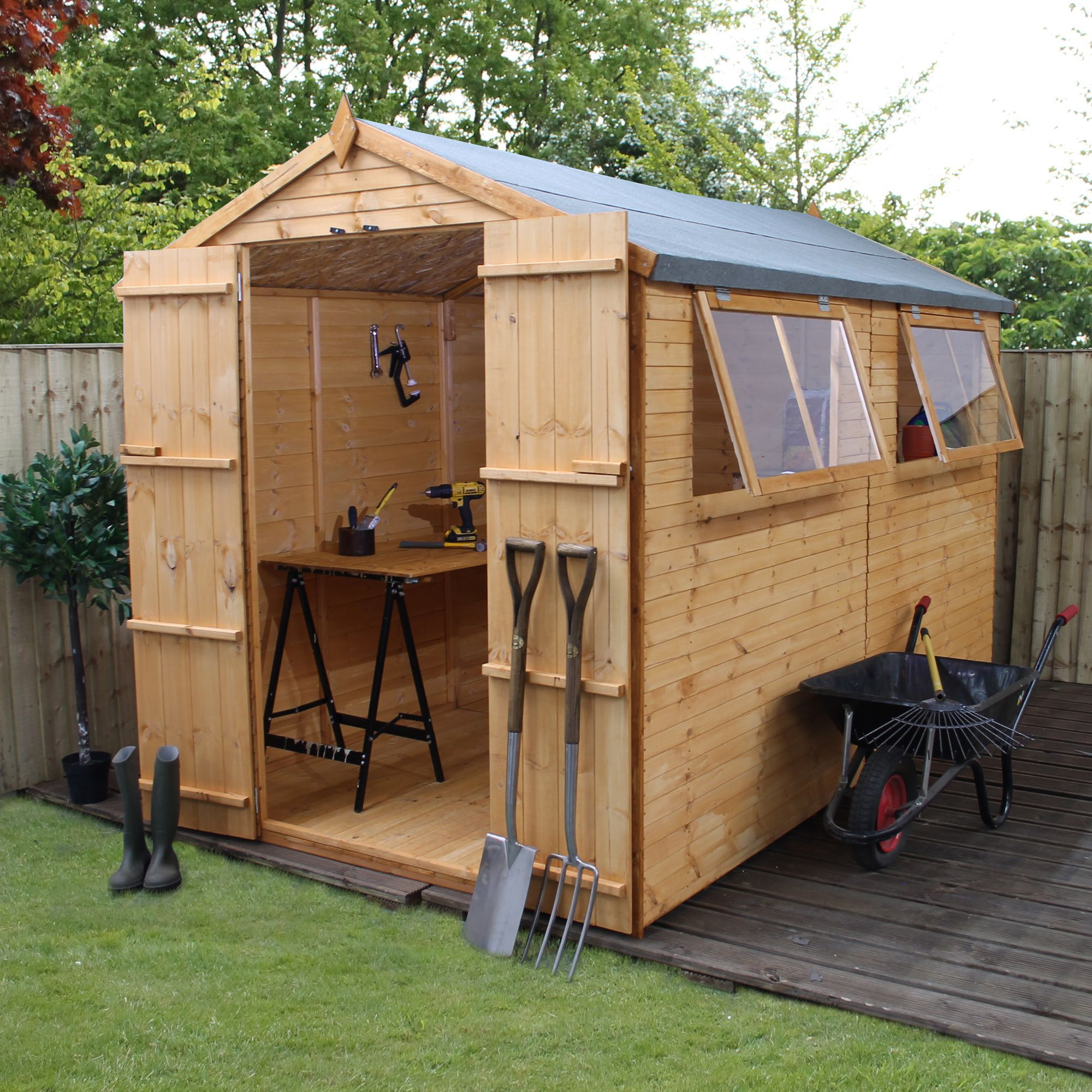 Outdoor apex shed diy for Outdoor garden shed
