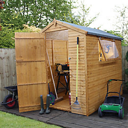 7X5 Apex Shiplap+ Wooden Shed