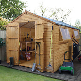 12X8 Apex Shiplap+ Wooden Shed with Assembly Service